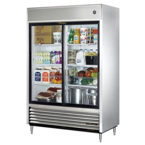 True TSD-47G-HC-LD Sliding Glass Door Reach-In Refrigerator