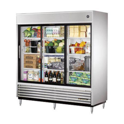 True TSD-69G-LD Reach-In Refrigerator with Sliding Glass Doors