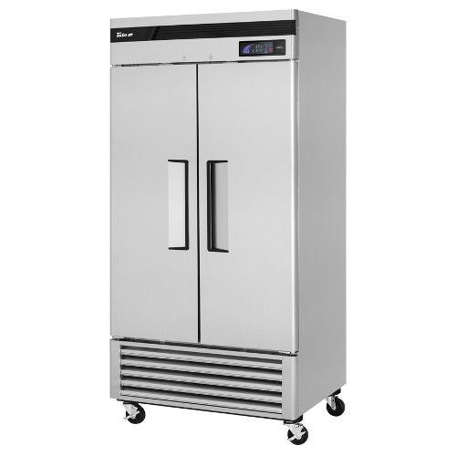 Turbo Air TSR-35SD-N Super Deluxe Reach-In Two-Section Solid Door Refrigerator