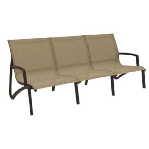 Grosfillex US003599 Congnac/Fusion Bronze Sunset Armless Sofa (2 per case)