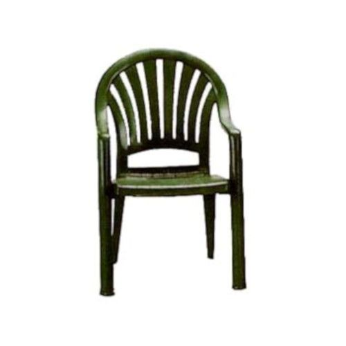 Grosfillex US092078 Pacific Fanback Amazon Green Stacking Armchair (4 per case)