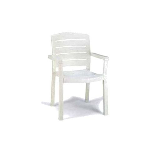 Grosfillex US119004 White Acadia Armchair (4 per case)