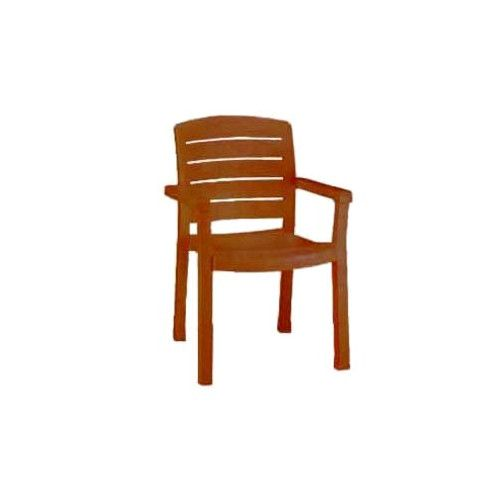Grosfillex US119008 Teakwood Acadia Armchair (4 per case)