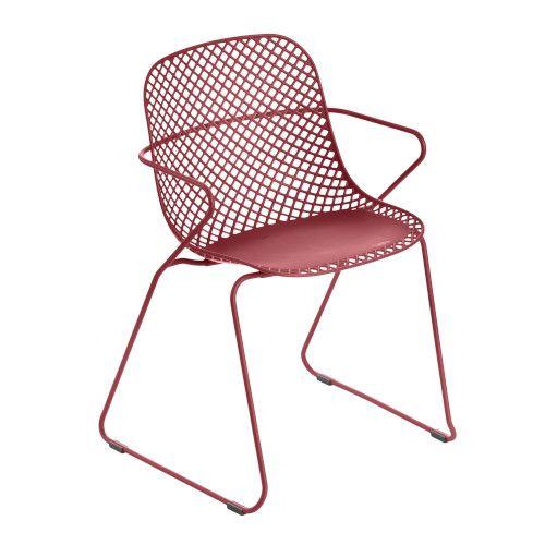 Grosfillex US136712 Rouge Bossa Nova Ramatuelle '73 Armchair (8 per case)