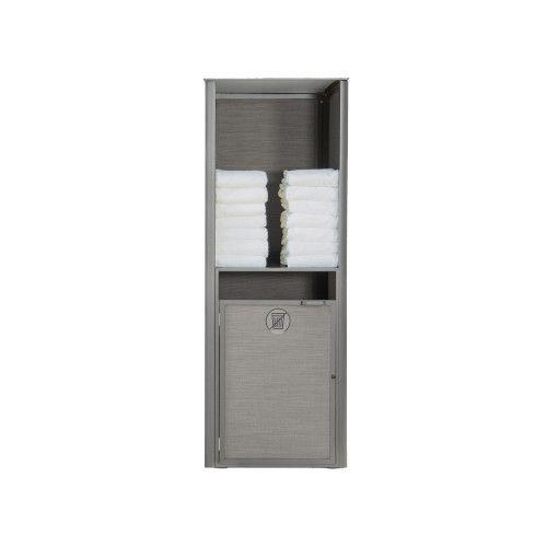 Grosfillex US170289 Platinum Gray Sunset Towel Valet Single Unit