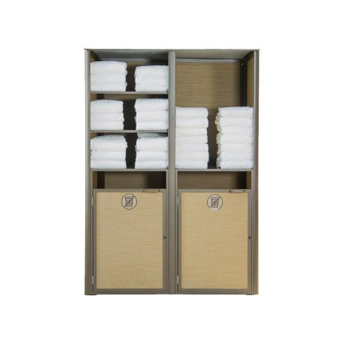 Grosfillex US173599 Bronze Sunset Towel Valet Double Unit