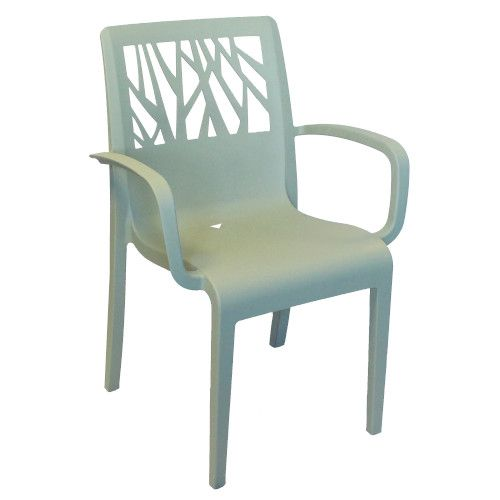 Grosfillex US211721 Vegetal Sage Green Stacking Sidechair (4 per case)