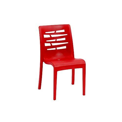 Grosfillex US218414 Red Essenza Stacking Sidechair (16 per case)