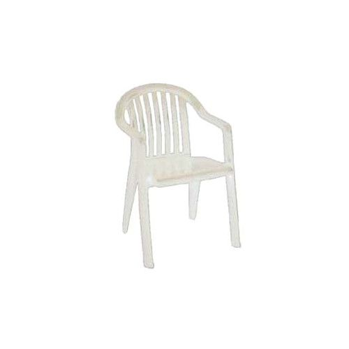 Grosfillex US282304 White Miami Lowback Stacking Armchair