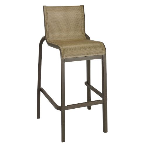 Grosfillex US300599 Cognac/Fusion Bronze Sunset Armless Barstool (8 per case)