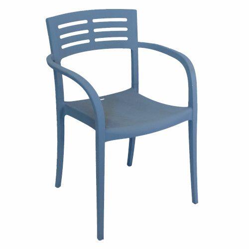 Grosfillex US336680 Vogue Denim Blue Stacking Armchair (4 per case)