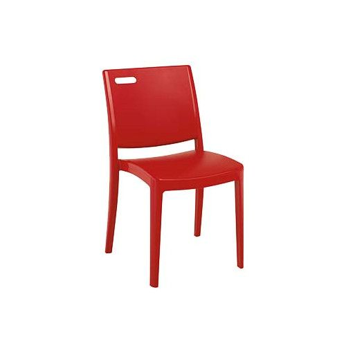 Grosfillex US356202 Apple Red Metro Stacking Chair (case of 4)