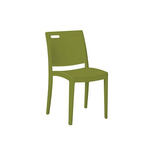 Grosfillex US356282 Cactus Green Metro Stacking Chair (case of 4)
