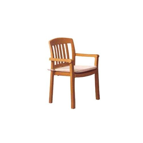 Grosfillex US442008 Teakwood Atlantic Stacking Armchair(case of 4)