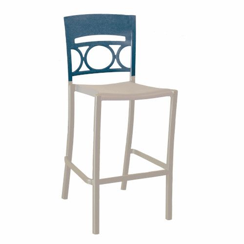 Grosfillex US456680 Denim Blue/Linen Moon Stacking Barstool (case of 2)