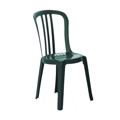 Grosfillex US495578 Amazon Green Miami Bistro Stacking Chair (case of 32)