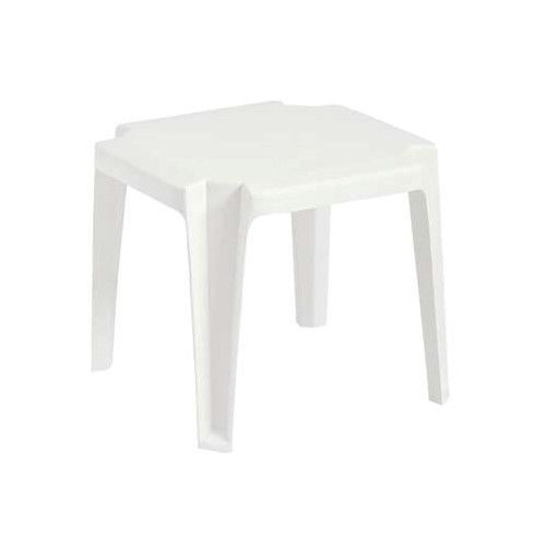 Grosfillex US529804 White Miami 17X17 Low Table (case of 6)