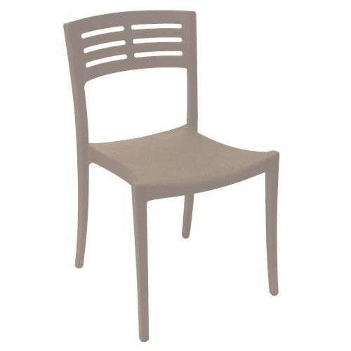Grosfillex US637181 French Taupe Vogue Stacking Sidechair (case of 16)
