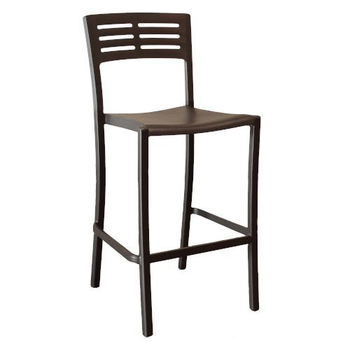 Grosfillex US638017 Black Vogue Stacking Barstool (case of 8)