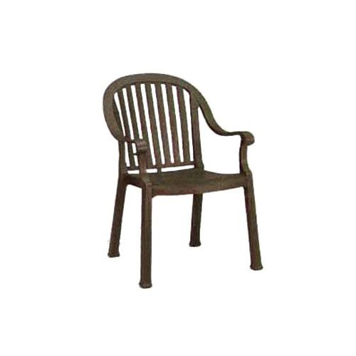 Grosfillex US650037 Bronze Mist Colombo Stacking Armchair (case of 12)