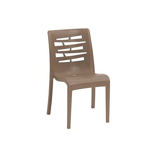Grosfillex US812181 Taupe Essenza Stacking Sidechair (case of 4)