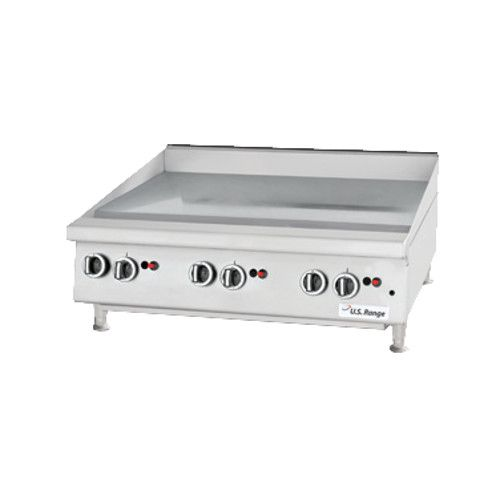 US Range UTGG24-GT24M Heavy-Duty Gas Countertop Griddle with Thermostatic Controls - 56,000 BTU