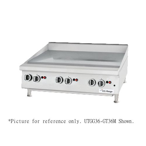 US Range UTGG48-GT48M Heavy-Duty Gas Countertop Griddle with Thermostatic Controls - 112,000 BTU