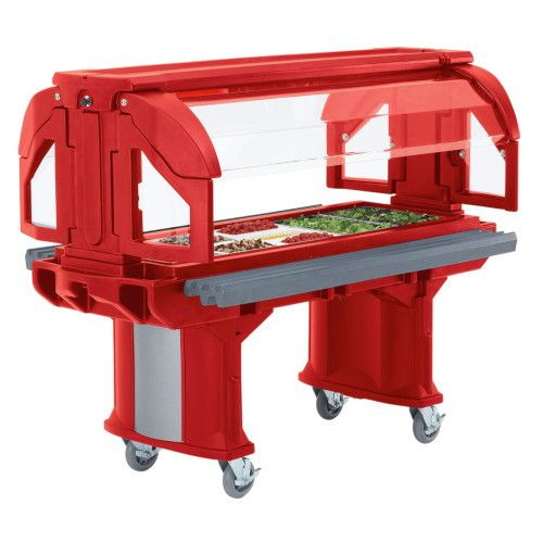 Cambro VBR6158 Cold Food Versa Food Bars Serving Buffet (Hot Red)