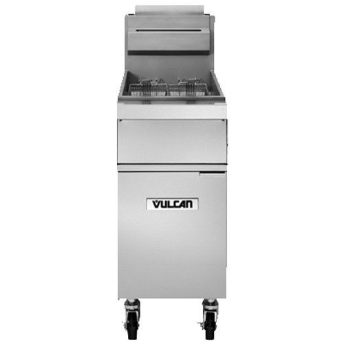 Vulcan 1GR45A Free-Standing Full Pot Gas Fryer with Solid State Knob Controls - 120,000 BTU