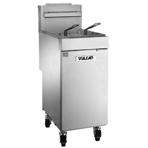 Vulcan 1VEG35M Gas 35-40 lb. Floor Fryer with Millivolt Controls - 70,000 BTU