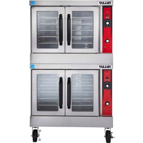 Vulcan VC44ED 480v Double Deck Full Size Electric Convection Oven