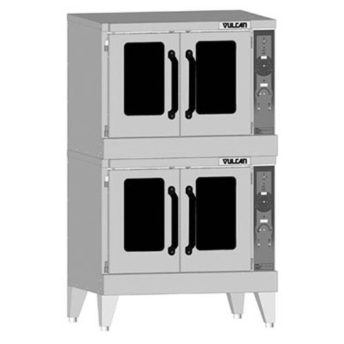 Vulcan VC55GD Gas Double Deck Standard Depth Convection Oven with Solid State Controls - 100,000 BTU