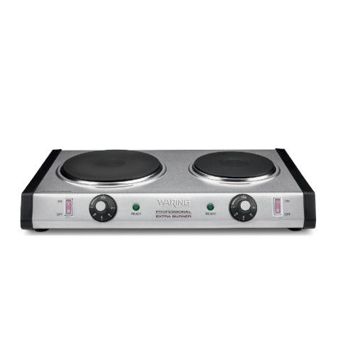 Waring WDB600 Countertop Electric Commercial Burner with 2 Burners