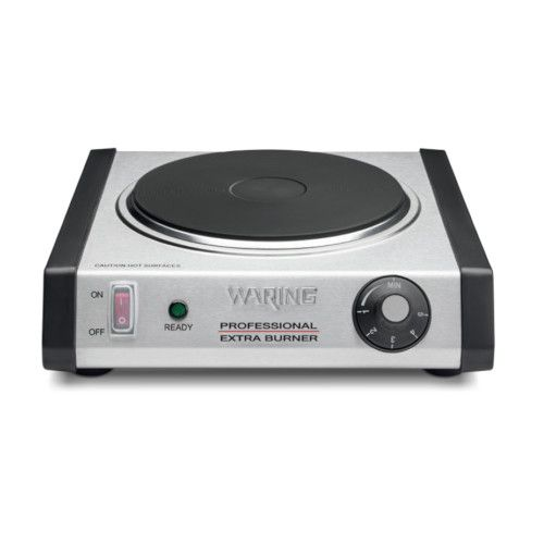 Waring WEB300 Countertop Single Electric Commercial Burner with Adjustable Thermostat