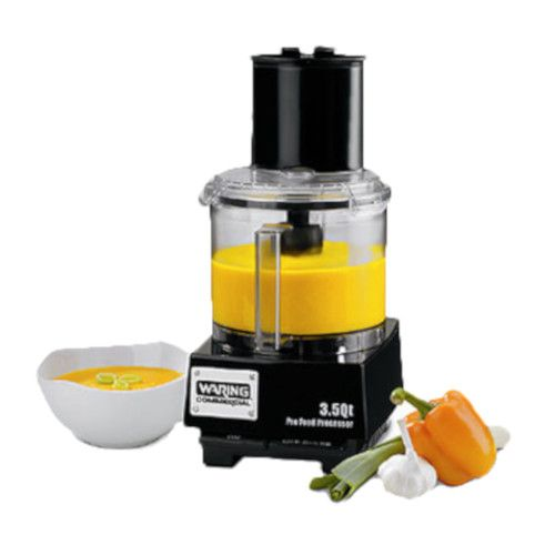 Waring WFP14S Commercial Batch Bowl Food Processor - 3.5-Qt Capacity
