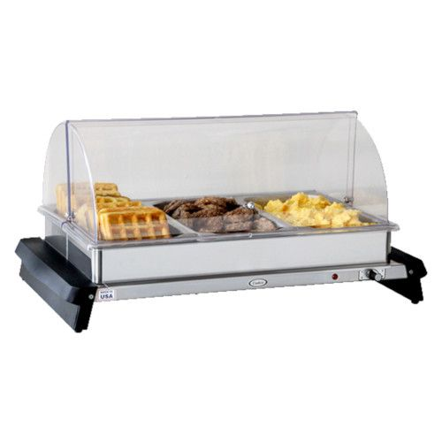 Cadco WTBS-3RT Countertop Triple Buffet Server