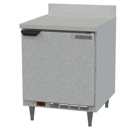 Beverage Air WTR27 Shallow Depth Worktop Refrigerator With Removable Backsplash