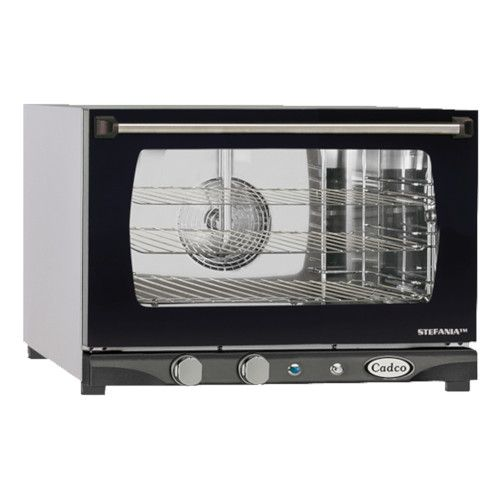 Cadco XAF-113 Electric Countertop Convection Oven with Manual Time, Temperature, and Humidity Controls
