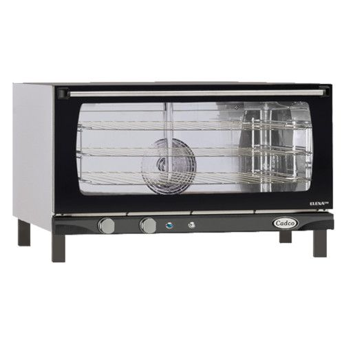 Cadco XAF-183 Electric Countertop Convection Oven - Accommodates 3 Full-Size Sheet Pans
