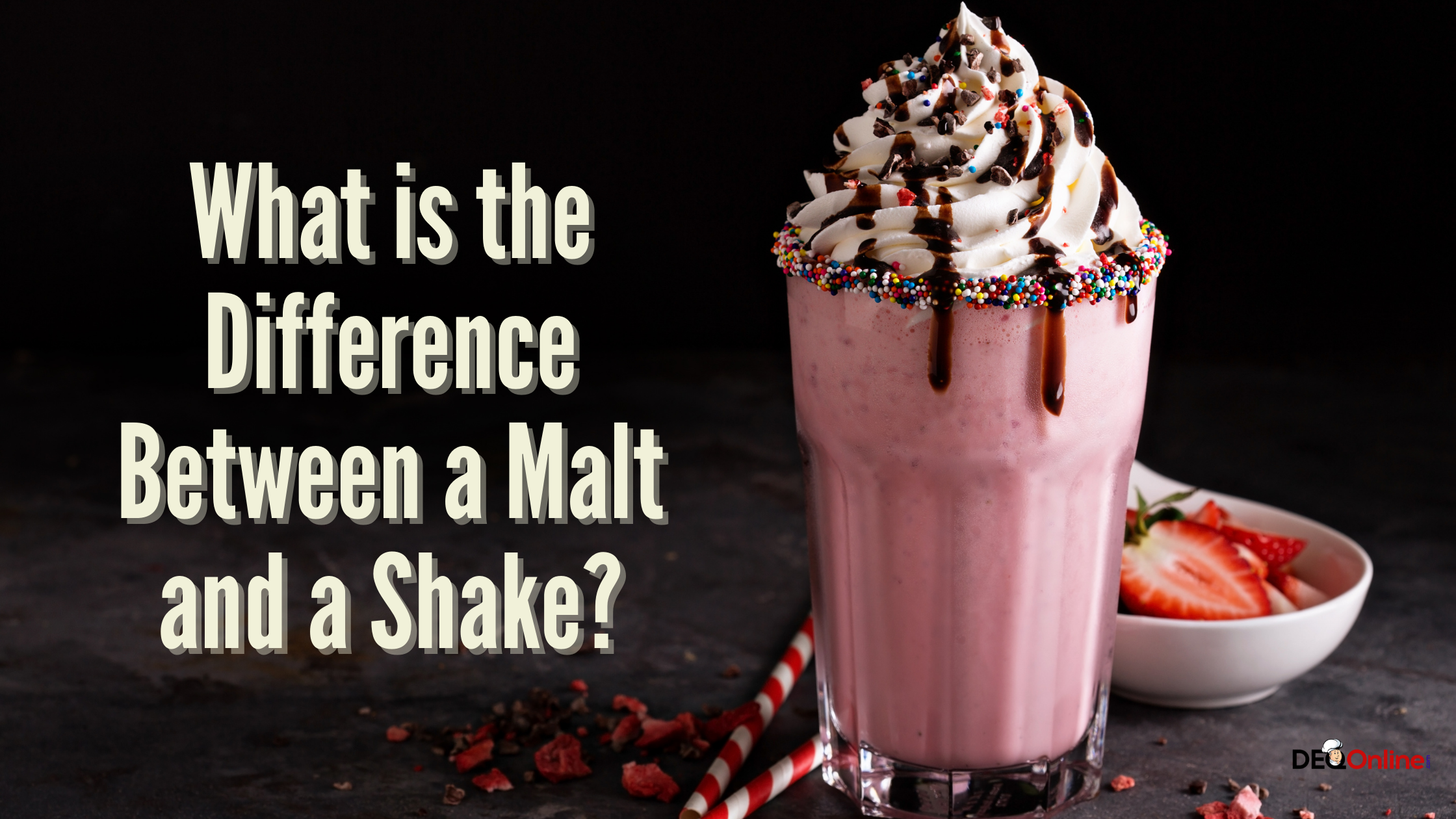 What is the Difference Between a Malt and a Shake?