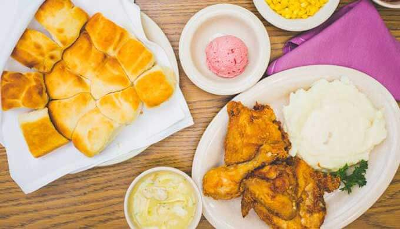 Mrs. Knott's Fried Chicken Dinner