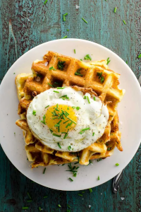 Cheddar and Chives Waffles