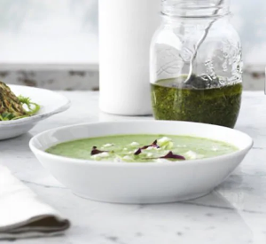 Zucchini Asparagus and Pea Soup