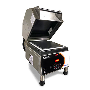 Sandwich Grill with Grooved Top and Smooth Bottom