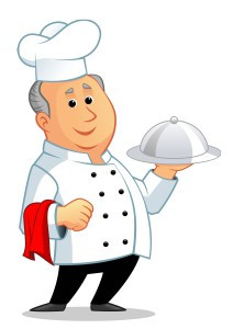 Chef Larry in Catering Uniform